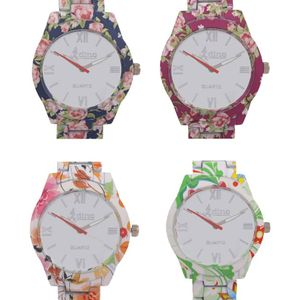 Adino Combo of 4 Analog Watch Model ADF04- For Women