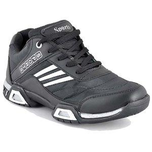 Stylos Mens Black Sport Shoes