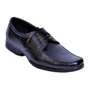 Stylos Black Lace Formal Shoes