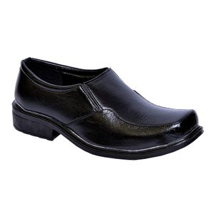 Stylos Black Formal Shoes