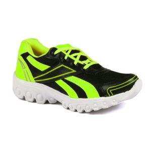 Mens  Black and Green Sports Shoes
