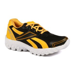 Mens  Black and Yellow Sports Shoes