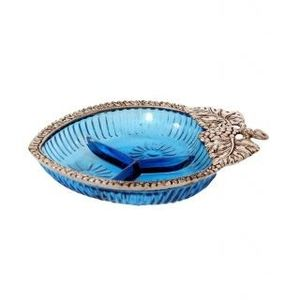 Blue Serving Glass Tray