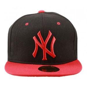 Stylos Black & Red Snapback Cap