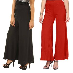 Tusky Red,Black Palazzo For Women (Pack Of 2)