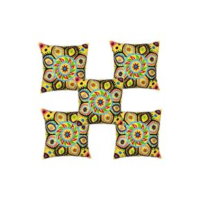 Cotton Ari Embroidery Cushion Cover-Set of 5