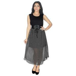 Abeez Black & White Georgette Dress
