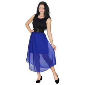 Abeez black and royal blue Party Wear Dress