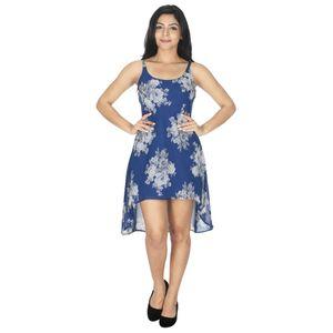 Abeez Blue Georgette Western one piece Dress