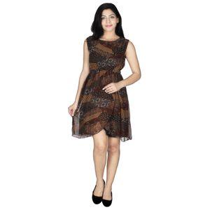 Abeez Brown Adriana Browny Dress