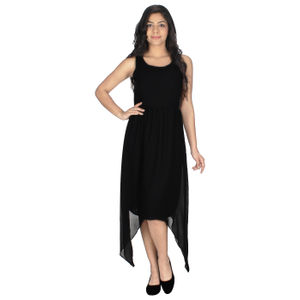 Abeez  Women's Georgette Black Dress