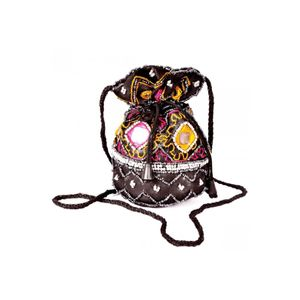 Silk Potli bag with Rajasthani Embroidery-Set of 5