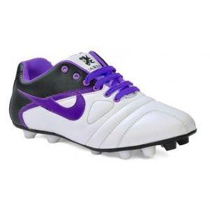 Fundoo Shooz White & Blue Stud Sports Shoes