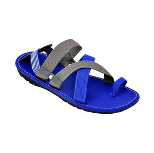 Blue Suede Leather Sandals for Men
