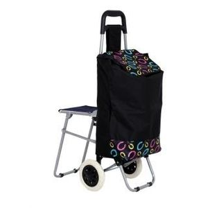 Vegetable & Fruit Folding Trolley Bag with Chair