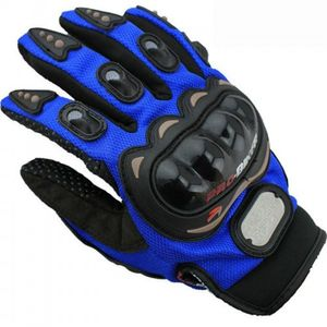 V-LUMA FULL FINGER RIDING GLOVES (XL, BLUE)