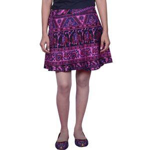 Cotton Printed Wrap Around Short Skirt By Tusky