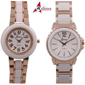 Adino Combo of Analog Watch Model Q16 - For Womens