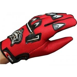 KNIGHTHOOD 1 PAIR OF HAND GRIP FOR BIKE MOTORCYCLE SCOOTER RIDING - RED COLOUR DRIVING G