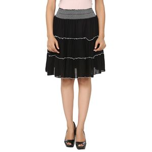 Abeez Victoria Black Cotton Skirt