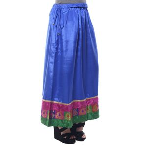 Abeez Blue Art Silk Ethnic Skirt