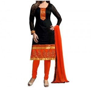 UNSTITCHED BANNO BLACK PRINTED DRESS MATERIAL