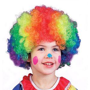 Clown Rainbow Party Wig