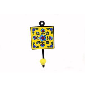 Ceramic Flower Single -Hook Key  Hanger