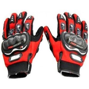 PRO BIKER BIKE RACING RIDING GLOVES (M, RED)