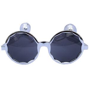 Disco Balls Metallic Crome Party Sunglasses