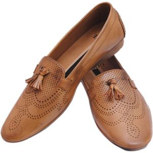 Stylo India Loafers  (Tan)