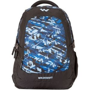 WILDCRAFT CAMO 4 BACKPACK BAG - BLUE