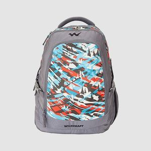 WILDCRAFT CAMO 4 BACKPACK BAG - TURQUOISE