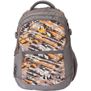 WILDCRAFT CAMO 6 BACKPACK BAG - ORANGE