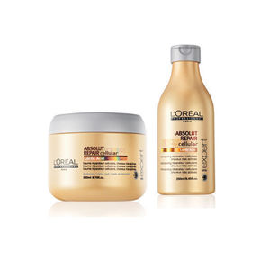 Combo of L'Oreal Professionnel Serie Expert Absolut Repair Cellular Repairing Masque & Shampoo