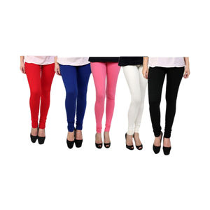 Delux Look Multicoloured Cotton Lycra Leggings - Pack of 5