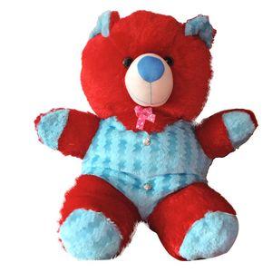 Red & Sky Blue Medium Size Teddy