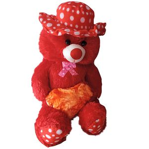 Cute Cap & Heart Teddy Bear