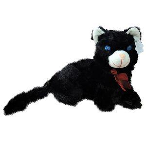 Black Cat Teddy Bear With Sound & Light