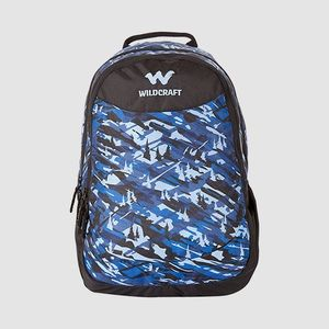 WILDCRAFT CAMO 1 BACKPACK BAG - BLUE