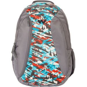 WILDCRAFT CAMO 3 BACKPACK BAG - TURQUOISE