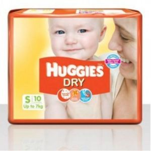 HUGGIES DRY SMALL UP TO 7KG 10PCS