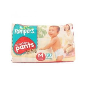 PAMPERS BABY DRY PANTS M 9PCS 7-12KG