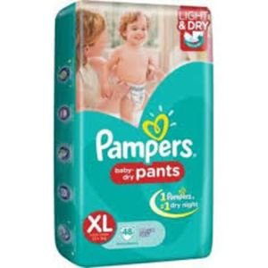PAMPERS BABY DRY PANTS XL 7PCS 12+ KG