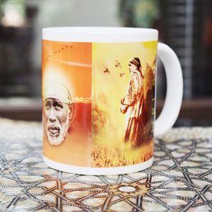 Ceramic Mug with Three Sai Pics