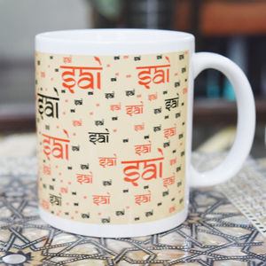 Ceramic Mug Sai Sai Written (White)