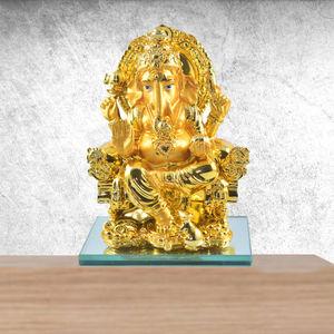 Ganesh Ji Resin Craft (Gold)