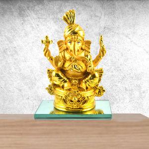 Ganesh Ji Resin Craft Idol