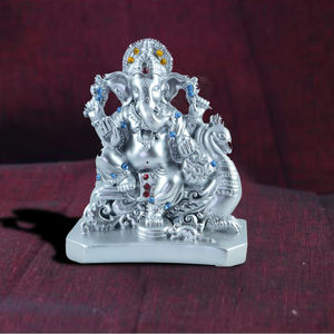 Ganesh Ji Resin (White Silver)