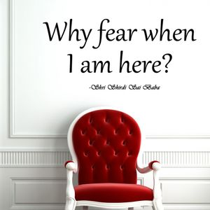 Wall Decal Why Fear..